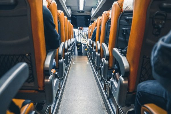 bus, transportation, vehicle